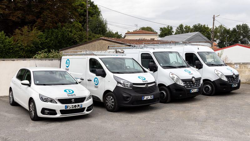 Flotte de véhicules Dupré - Saintes